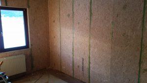 4. Placement de panneaux d'OSB
