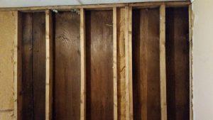 1. Mise à nu du mur intérieur